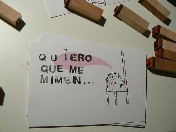 QUIERO QUE ME MIMEN by olga de dios, via Flickr
