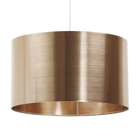 Lampe suspendue forme cylindrique LATIN (cuivre)