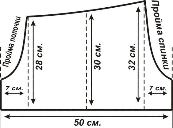 Cхема построения выкройки женского платья