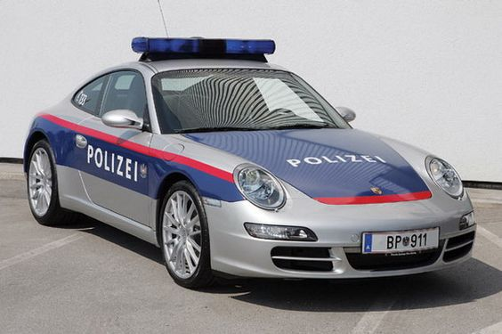 Austrian Porsche 911 Police Car-One cop you don't want to run from.