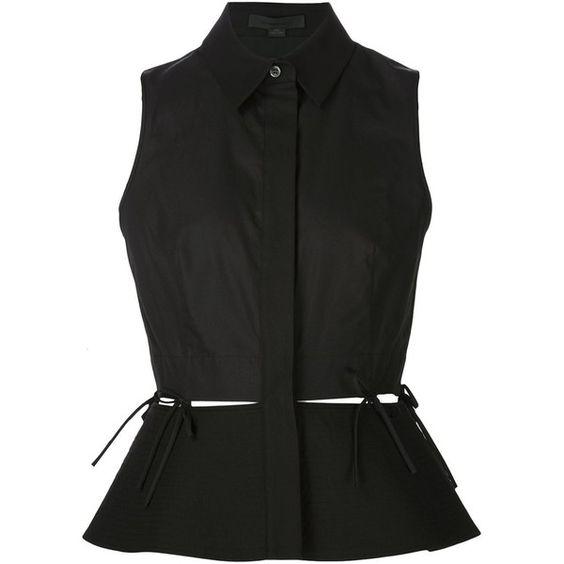 Alexander Wang sleeveless peplum blouse (797 CAD) ❤ liked on ...