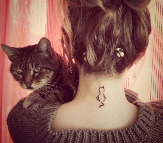 Mini-tattoos met katten -Cosmopolitan.nl