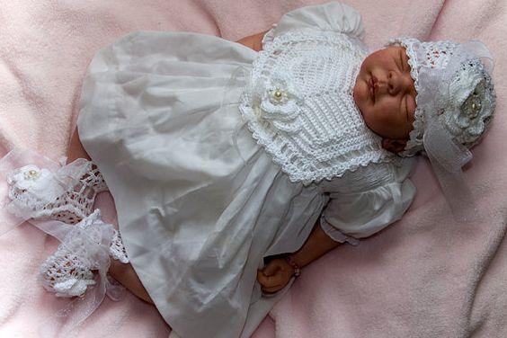 Cheryl's Crochet CC71-Fancy Lace Baby Set 0-3 M by cherylscrochet (Craft Supplies & Tools, Patterns & Tutorials, pattern, bootie, mary jane, shoe, baby, embroidred, fancy, bonnet, bib)
