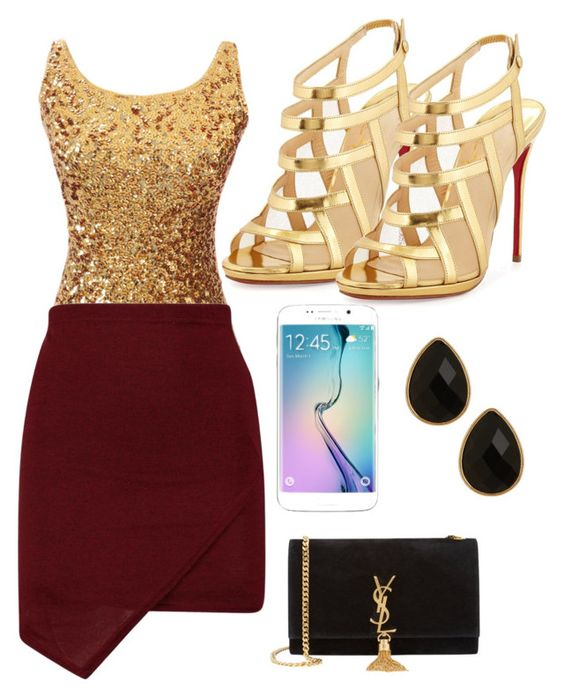 """Dress for yourself :)"" by nana13854 on Polyvore featuring Christian Louboutin, Samsung, Yves Saint Laurent, Natasha Accessories, women's clothing, women's fashion, women, female, woman and misses"