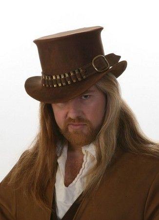 The Gunslinger Leather Top Hat