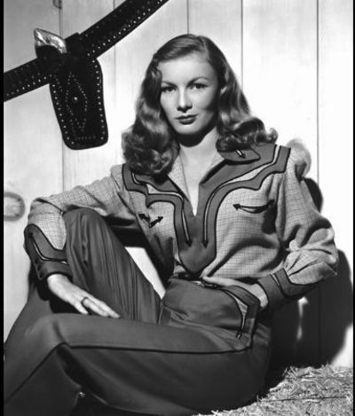 Veronica Lake - amaziing western shirt, 1940s: