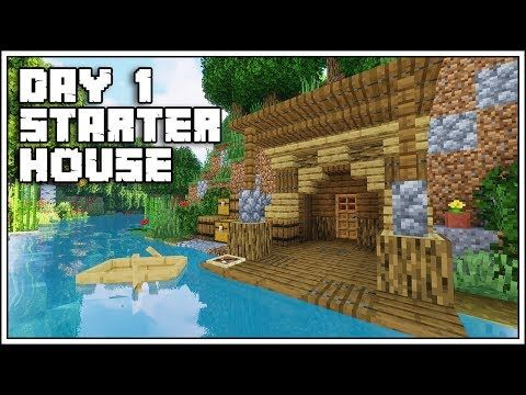 Minecraft First Day Starter House Tutorial How To Build Youtube Minecraft Starter House Minecraft Houses Minecraft Blueprints