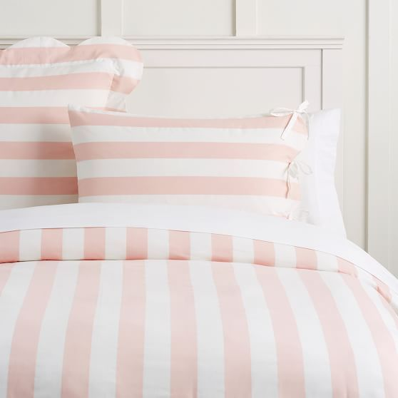 The Emily Meritt Pajama Stripe Duvet Cover Striped Duvet Covers Striped Duvet Duvet Covers