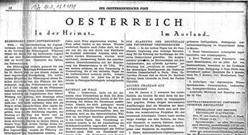 """Mit Hitlers Einmarsch in Frankreich mussten alle dortigen Exilzeitschriften, so die """"Österreichische Post"""", ihr Erscheinen einstellen."""