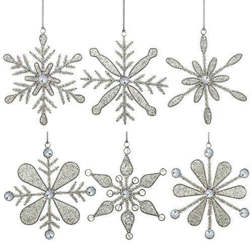 6er Set Christbaumschmuck Glas Anhänger Schneeflocke Hängedeko Weihnachten 15 Cm ShalinIndia http://www.amazon.de/dp/B00LSNLD0E/ref=cm_sw_r_pi_dp_QEPOub0PX3HSR