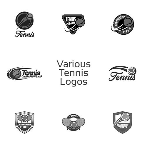 Visit Our Gallery For Best Logo Of Tennis Vector Design Logo Template Tennis Racket Tennis Ball Us Custom Graphic Design Logo Design Template Logo Design