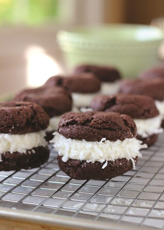 Chocolate Coconut Whoopie Pies: Make It with a Cake Mix!