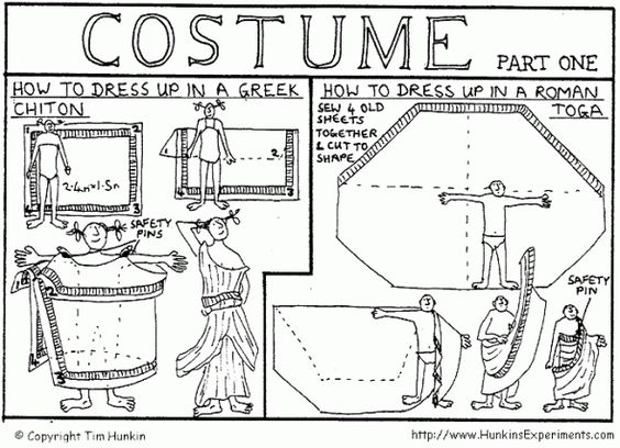 How to dress up in a Greek Chiton or a Roman Toga