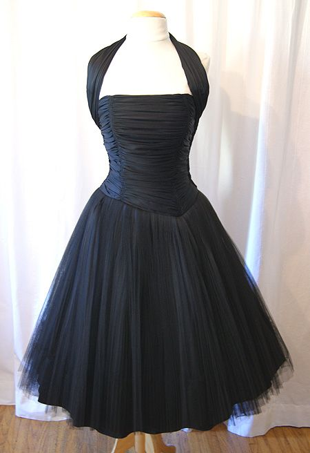 1950's Halter Cocktail Party Dress. Adorable!