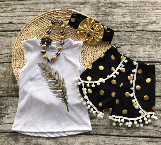 This includes top, shorts, and accessories! As always shipping is Free! Available in size 12 months,2,3,4,5,6,7,8, & 9. This outfits does run tts*** This is a pre order. Order will be placed on June 9. Pre-Orders will be taken through June 8 @ midnight. We do ask you allow 3 weeks from the time order is placed to receive. It will more than likely not take this long but it's better to be safe than sorry!