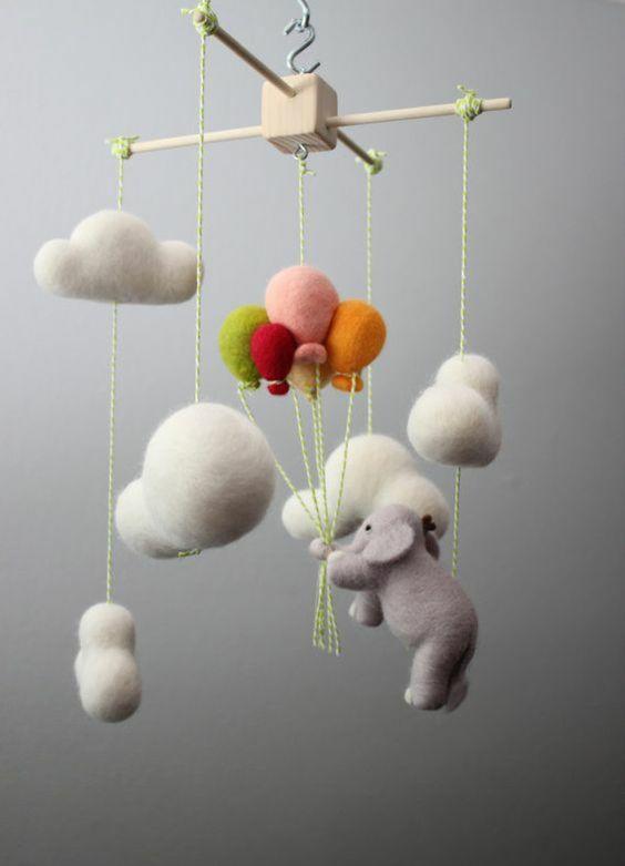bastelidee kinderzimmer ideen mobile basteln | basteln mit kindern
