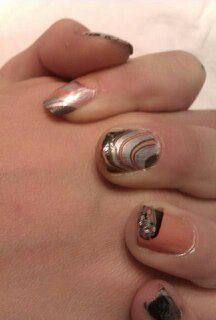 Nails by Jolela- Water Marble Nail Art