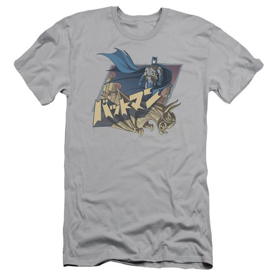 Batman/Japanese Knight Short Sleeve Adult T-Shirt 30/1 in