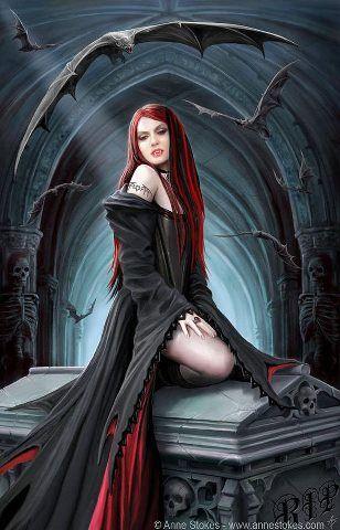 vampire women always make lovely goth girls like this one. | dark