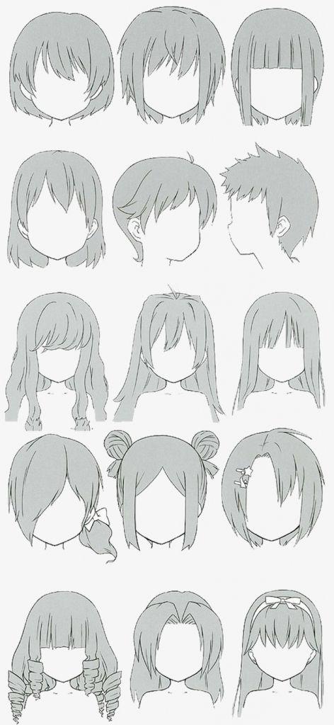 女の子 イラスト 髪のスケッチ 髪型のスケッチ 髪の絵