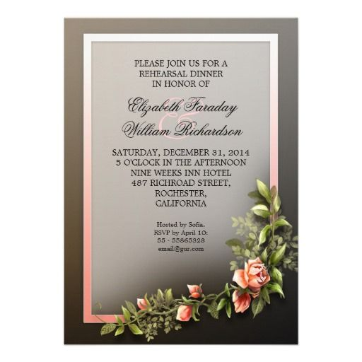 Wedding Invitation Vintage for great invitations template