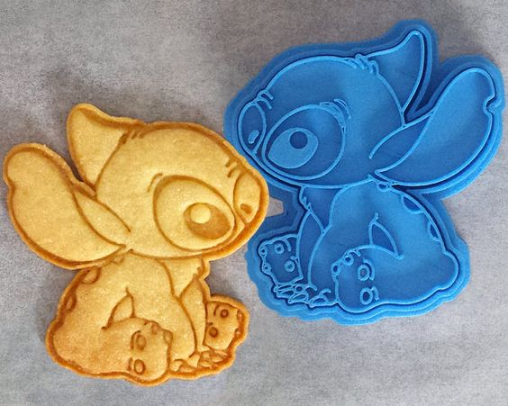 NEW to our line of 3D printed cookie cutters, its Disneys adorable Stitch from the movie Lilo & Stitch! This cookie cutter has been tested