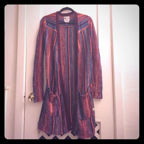 Billabong duster sweater Worn only once. Like new condition. Very beautiful sweater! Billabong Sweaters