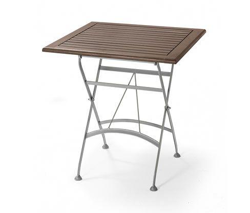 Klappbarer Gartentisch Metall Und Holz Gartentisch Klappbarer