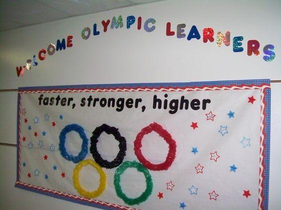 Classroom Decorating Ideas Olympic Theme : Olympic themed board bulletin ideas pinterest