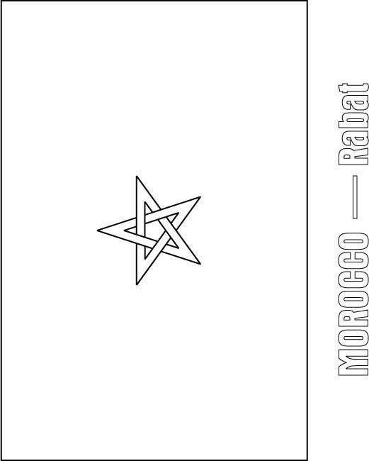 Morocco Coloring Pages Flag Coloring Pages Morocco Flag Coloring Pages
