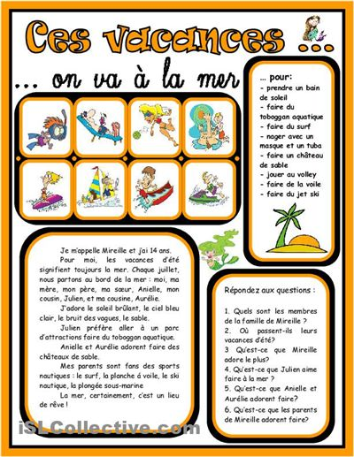 Le Cahier de Français: À LA PLAGE!
