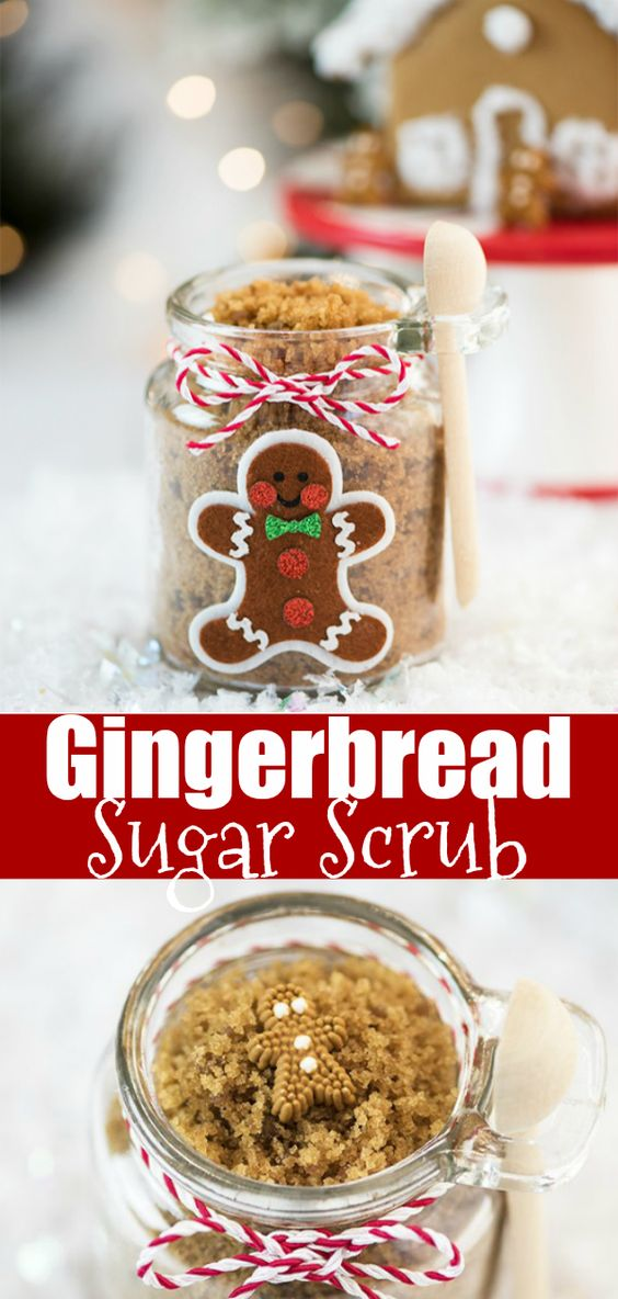 DIY Gingerbread Sugar Scrub - this easy holiday sugar scrub smells amazing and makes a great gift