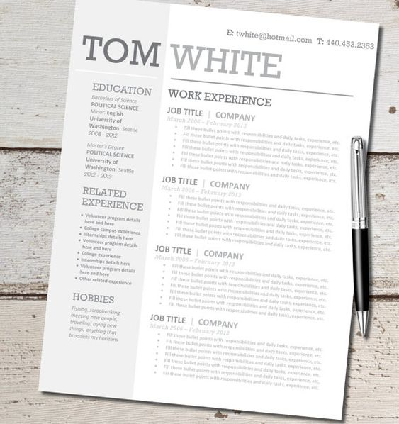 Resume Template Instant Word Document Download by ClingDesigns - ms word resume templates download