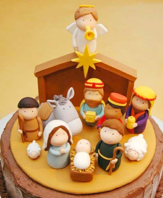 Cake design di Natale: come fare un presepe in pasta di ...