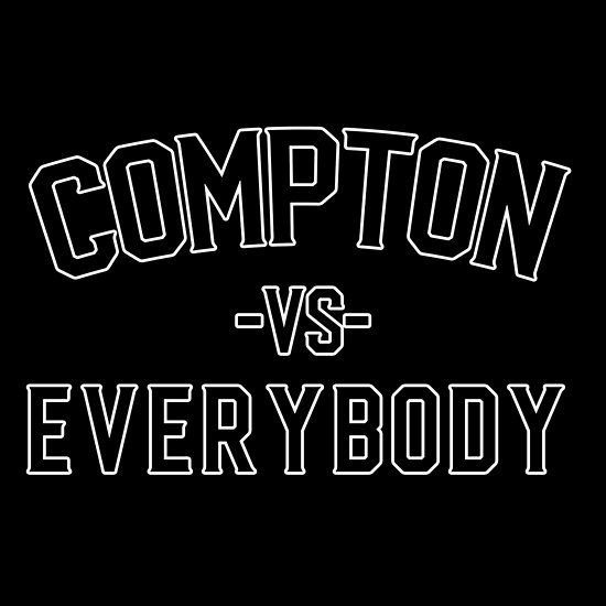 Compton Vs Everybody Sticker Compton Shirts Tshirt Designs