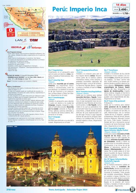 PERÚ : Imperio Inca, dto. dsd 8%: + 90días, sal. del 7/02 al 31/12 desde Madrid (14d/12n) dsd 2.490€ ultimo minuto - http://zocotours.com/peru-imperio-inca-dto-dsd-8-90dias-sal-del-702-al-3112-desde-madrid-14d12n-dsd-2-490e-ultimo-minuto/