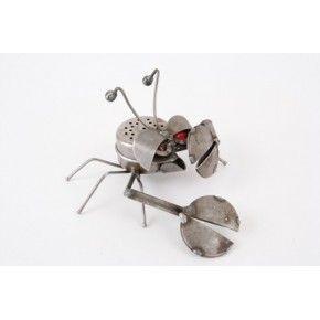 Metal crab sculpture