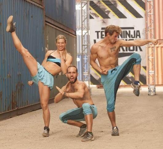 stuntwoman Jessie Graff with her team g-force on American Ninja Warrior