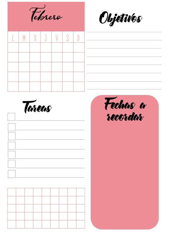 Calendario El Grafico 2019 Pdf.Agenda 2018 2019 Sin Fechas Para Imprimir Y Editar Pdf