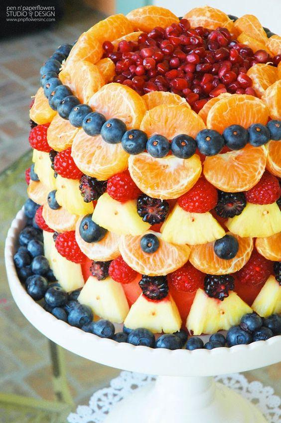 Beautiful Fruit Cake Images : Beautiful cake made of fruit Cakes Pinterest ...