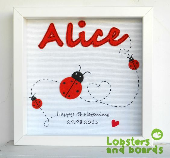 Free stitching personalised box .Personalised Baby Christening/New arrival gift.