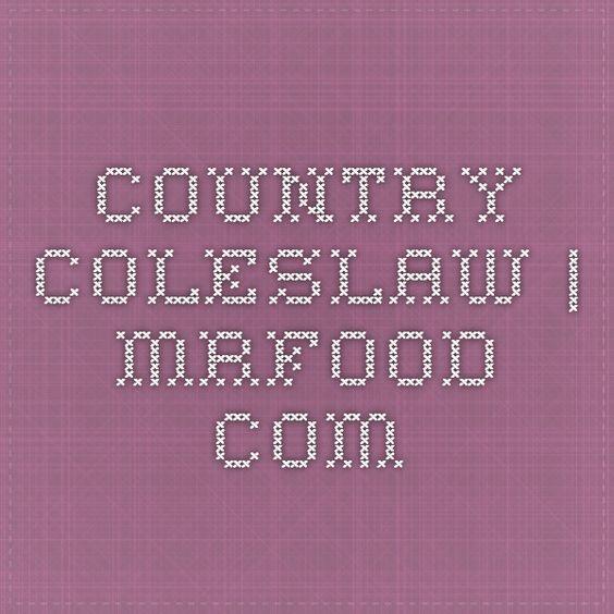 Country Coleslaw | mrfood.com