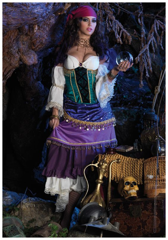 Deluxe Tarot Card Gypsy Costume:
