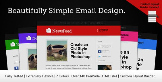 Creative Portfolio HTML Email Template  This is a unique, modern - professional email template