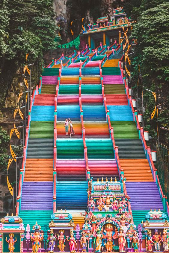 Rainbow Stairs, Batu Caves, Kuala Lumpur