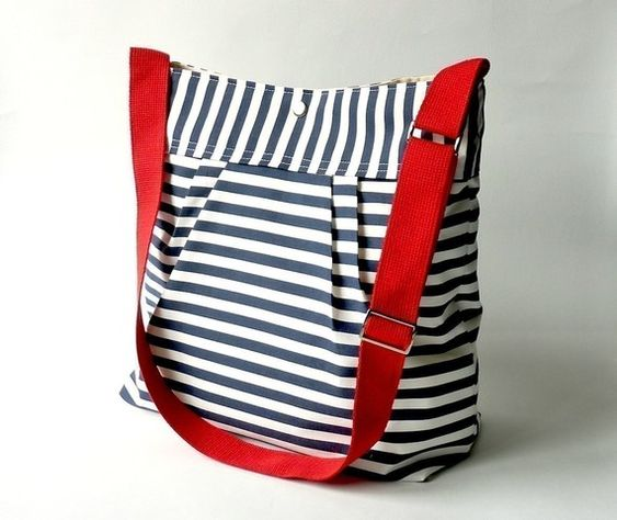 striped bag w/ lovely accent