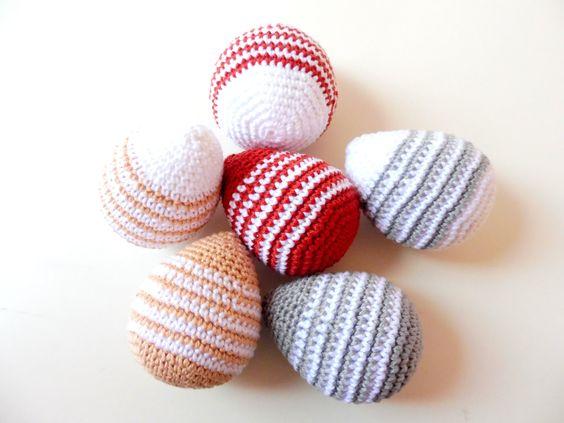 Pack de 2 huevos de pascua de ganchillo de Puntxet en Etsy