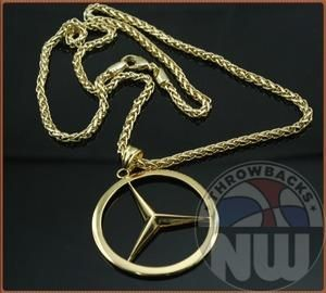 Mercedes benz chain benz pendant slk overall mb for Mercedes benz charm