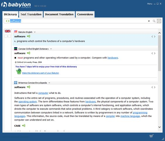 Babylon NG Software Screenshots