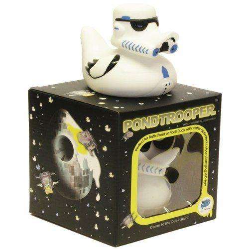 Locomocean Glow-in-the-Duck Come to the Duck side Canard de bain Pond trooper Star Wars LED à changement de couleur